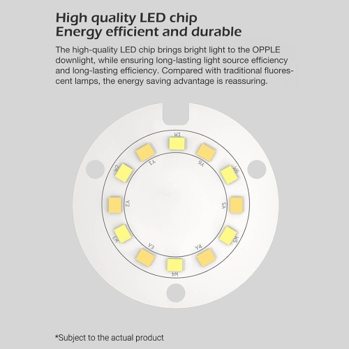 OPPLE LED Downlight 3W with Three Light Color Ultra Thin Round Ceiling Light LED Bulb For Bedroom Kitchen Hotel 220V