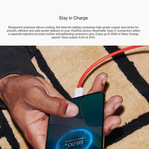 Кабель OnePlus Warp Charge Type-C, 100 см / 150 см, кабель для быстрой зарядки Type-C - Type-C для OnePlus 8T 7 7 Pro 8 8 Pro Nord N10 PAA4258R-2