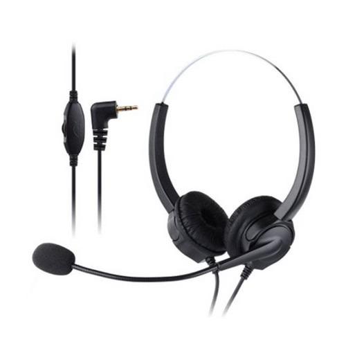 VH530D Professional Telefone Headset Clear Voice Cancelamento de Ruído Atendimento ao Cliente Wired Cabeça-montada auscultadores 2,5 milímetros fone de ouvido para o Call Center telefone digital