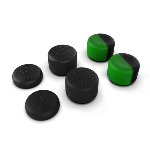 iPega PG-XBX002 6-in-1-Daumengriffe-Set Controller-Joystick-Kappe Rutschfeste Silikon-Hautschutzhülle Ersatz für Xbox Series S / X (6 Packungen) Schwarz + Grün