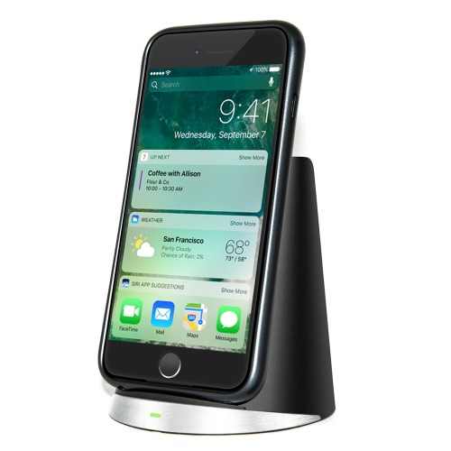 F21 Qiワイヤレス充電器2コイル充電パッドスタンドfor iPhone 8/8 Plus iPhone Xおよびその他のQi対応スマートフォン