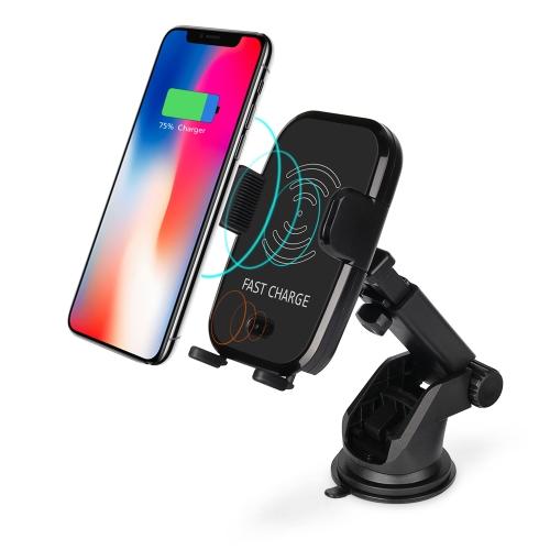 10W Qi Wireless Fast Charger Caricabatteria da auto supporto automatico del telefono