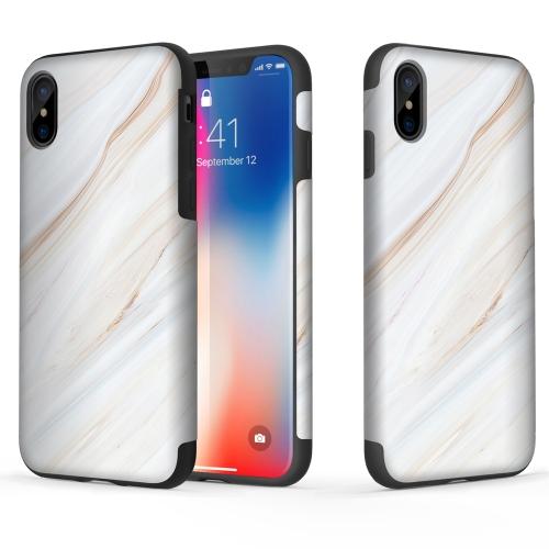 ROCK Caixa de proteção de madeira de madeira da série original para iPhone X Madeira e TPU capa de telefone de design de duas camadas Absorvente de choque Anti-scratch Anti-dust Durable Phone Shell