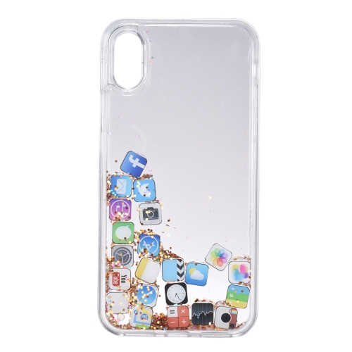 Quicksand APP Pattern Phone Case per iPhone X Bling Cute Custodia protettiva per telefono Anti-polvere Anti-graffio