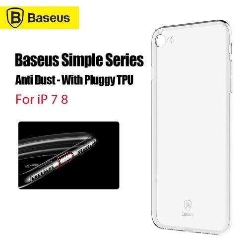 Xiaomi Baseus ТПУ Защитный чехол для iPhone 7 8 Тонкий прозрачный мягкий чехол для телефона Оболочка телефона Прочная крышка телефона Защитный чехол с Plugy TPU для 4.7 дюймов iP 7 8
