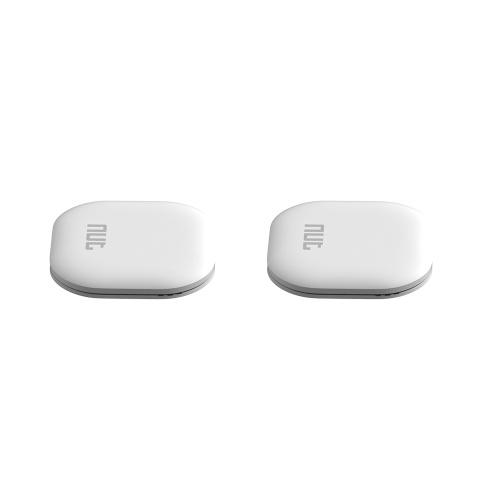 Couleur de l'écrou Anti-Perdu Tracker 2 Pièces Mini Finder Sans Fil BT Tag Tracker (Blanc)