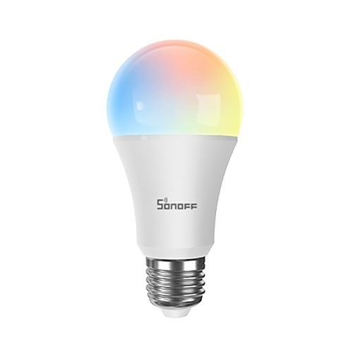 SONOFF B05-B-A60 Wi-Fi Smart LED-Glühlampe 60 W Äquivalente Vintage Edison-Glühbirne Dimmbar abstimmbar RGB (2700K-6500K) 806LM E27 Sockel Antikglas Stil für Zuhause (RGB)