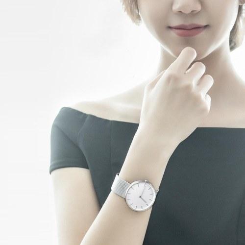 Xiaomi TwentySeventeen Analog Quartz Wrist Watch - Silver Steel Strap