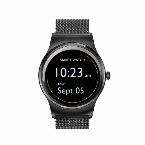 SMA Round Smart Watch 1.3-Inch IPS Display MTK2503A Activity Tracker Call Sincronização Notificação de mensagens 300mAh 128MB + 64MB Music Control Remote Camera