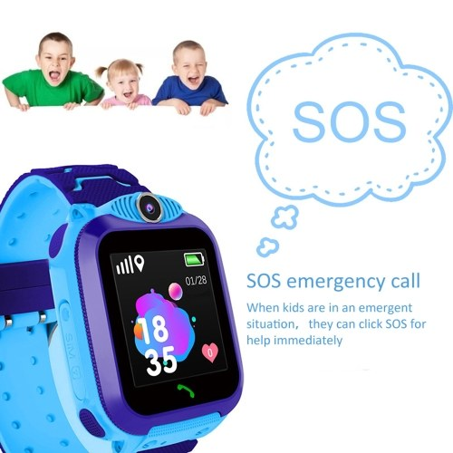 TR5-1 2G Children Smart Watch with Micro SIM Card Slot 1.54inch Touching Screen Anti-lost Wrist Watch with GPS LBS Positioning SOS Calling Voice Chat Waterproof Weather for Children Kids Pink