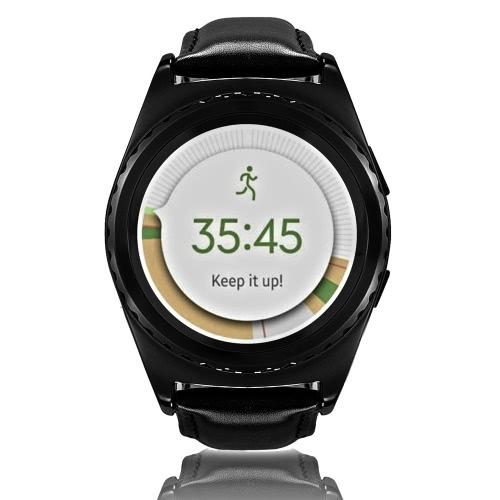 NO.1 G4 BT frequenza cardiaca intelligente orologio da polso 2G GSM MTK6261A 128MB + 64 MB 1,2 pollici 240 schermo * 240pixels LCD con dei registri delle chiamate contapassi Termometro sedentario cronometro Remote Camera Anti-perso per il bordo di Samsung S6 S7 S7 Motorola LG HTC Sony Smart Phone