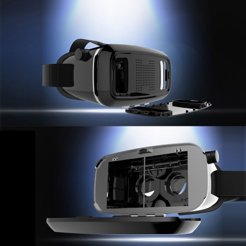 Original SHINECON Virtual Reality Headset 3D VR Glasses Adjustable Focal Pupil Distance for 3.5~6.0inch Android or Apple Smartphones 3D Videos Movies Games
