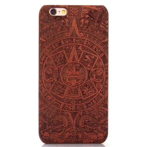 KKMOON Rosewood + PC Phone Case Tampa protetora Shell