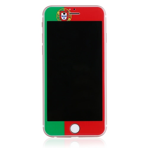 Bancos Europa futebol fãs tela protetora filme completo tampa telefone Anti-Blu-ray Alemanha / França / Portugal / Espanha / Itália / Inglaterra para iPhone 5,5 polegadas 6 Plus / 6S Plus 9H 0,23 mm ultrafinos alta transparência anti-sujeira Shatterproof anti-scratch