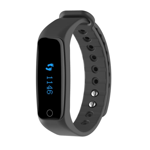 Telcast H30 Tętno Inteligentne Bluetooth Sport Watch Wristband bransoletka Fitness Tracker 0.86