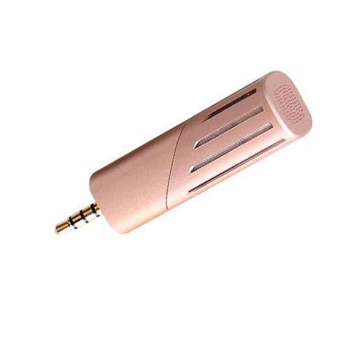 Yanmai Portable Mini Mobile Recording Microfone Condensador Rotável 90 ° 3.5mm Áudio Celular Gravação Mic para iPhone iPad Android Smartphones Comprimidos