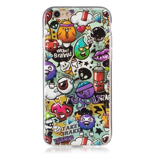 Ultra-Thin Soft TPU Phone Case Slim Shock-Absorption Anti-Scratch Protective Shell Luminoso à prova de choque Glow in the Dark Cover Cell Phone Case for iPhone 6 / 6S 1 #
