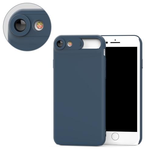 2 em 1 Estojo móvel Ultra-fino Protector Shell Back Cover com lente macro 15 milímetros Distância focal HD Lens Phone Case Shockproof à prova de poeira Anti-scratch Protector Case para iPhone 6 / 6s