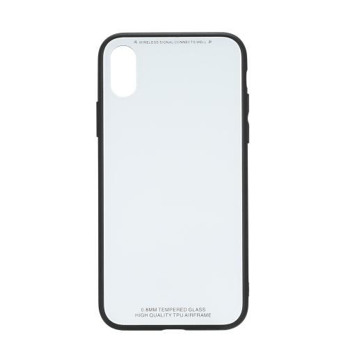 Casaco de capa de celular ultra-fino com vidro temperado de 0,8 mm Capa TPU Cobertura protetora Capa anti-choque para amortecedor para iPhone 7 Plus / iPhone 8 Plus