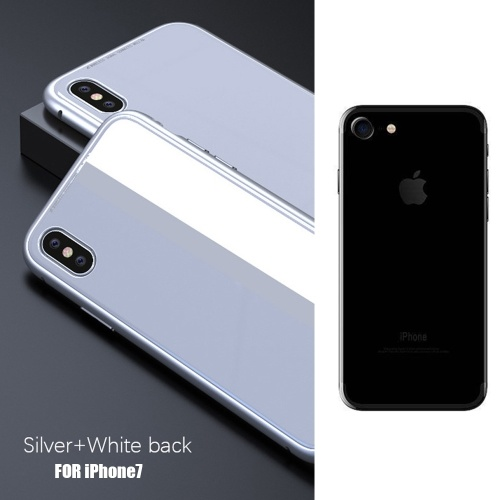 White Metal-rimmed Phone Bumper Case for Iphone 7