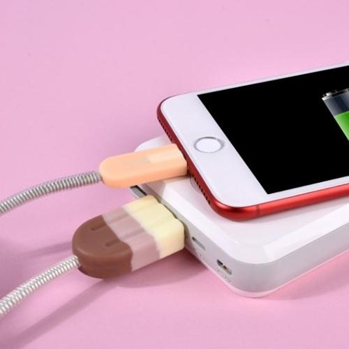 Многофункциональный морозильник Силиконовые данные USB Зарядный кабель Защитные кабели Зажим для рукавов с присоской для смартфона (стиль 1) фото