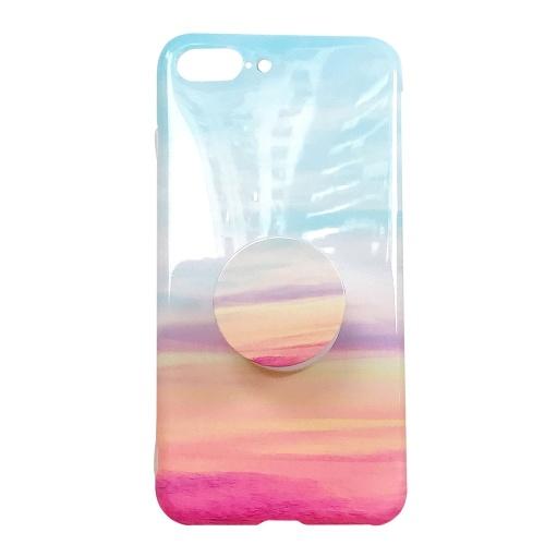 Marmor gemalter weicher TPU Fall für Iphone mit dem ausdehnenden Stand-Halter Smartphone Protektive Rückseite