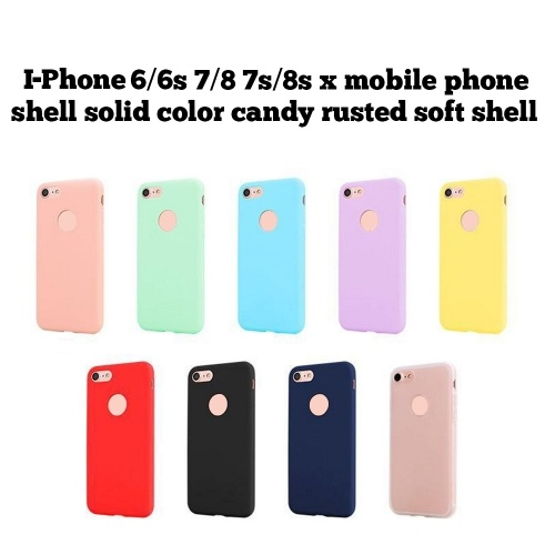 Slim Thin Frosted Soft TPU Mobile Phone Shell Candy Color Protective Cover Case for iPhone