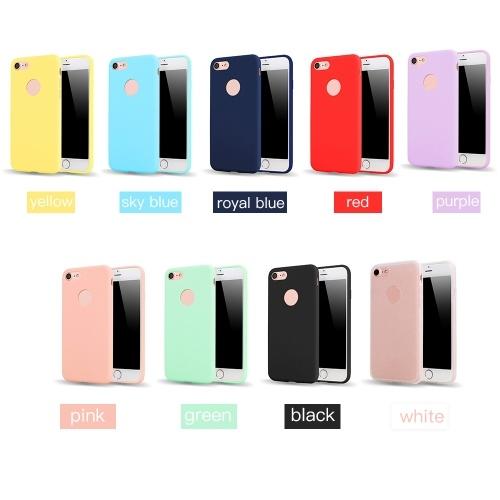 Тонкий тонкий матовый мягкий TPU мобильный телефон оболочки конфеты цвета защитный чехол чехол для iPhone фото