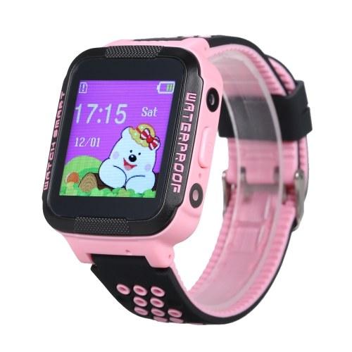 Crianças smartwatch com slot para cartão SIM 1,44 polegadas resistente à água tela sensível ao toque anti-lost relógio de pulso com localizador de rastreamento SOS chamada voz chat compatível para Android e iOS telefone