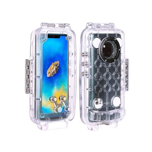 Etui étanche PULUZ 40m / 130ft Plongée Smartphone Etui de protection Sous-marin Etanche à 360 ° Protection Totale pour Huawei P20 / Huawei P20 Pro / Huawei Mate 20 Pro