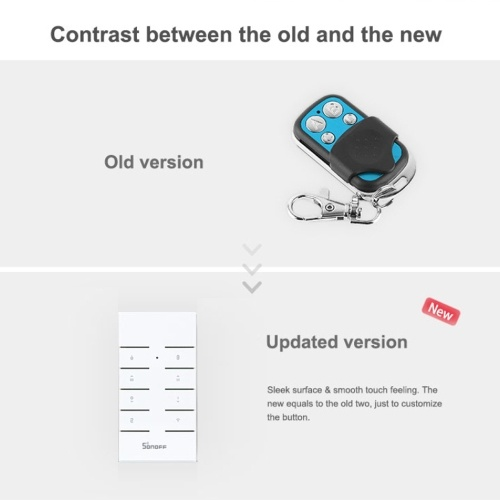 SONOFF RM433 8 Keys Multipurpose Custom 433 MHz RF Remote Control Switch Intelligence Household Appliances Accessories with Base