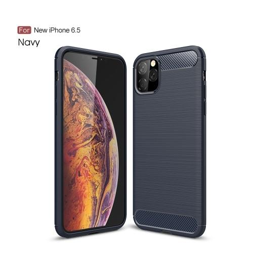 Cover morbida impermeabile Iphone 6.5 leggera per telefoni cellulari Cover morbida in silicone spazzolato antigoccia per I-phone 11