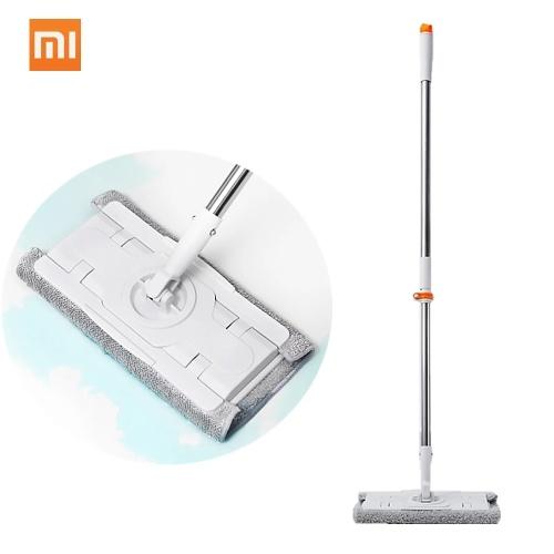 Xiaomi Mijia Jiezhi Besen Staubwischer Kehrmaschine Frei Einstellbar 360 Rotierende Reiniger 1,3 mt Stange Bodenreinigungswerkzeug Für Home Family Office