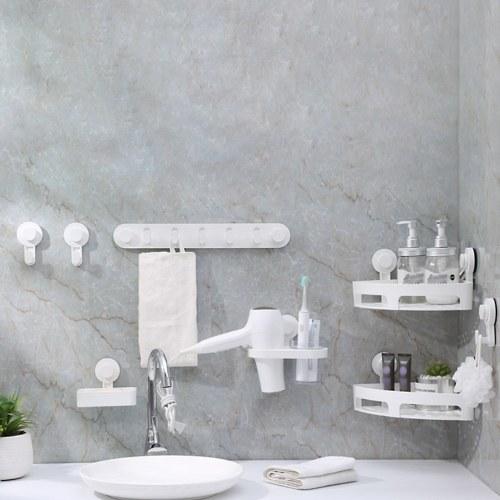 Xiaomi Quange Wash Set Waschraum selbstklebende Wandhaken Aufsatz Seifenkiste