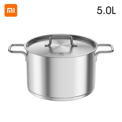 Xiaomi Youpin Soup Pot Stainless Steel Pot Stew Pot Soup Home Induction Cooker Pot Spice Tank Pot Miso Instant Pot Kitchen 5L Capacity for 7-8 People