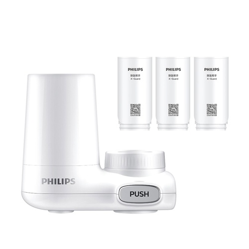 Philips Tap Water Purifier CM-300 Water Filter Faucet Replacement Dechlorination Filter Percolator For Kitchen Bathroom