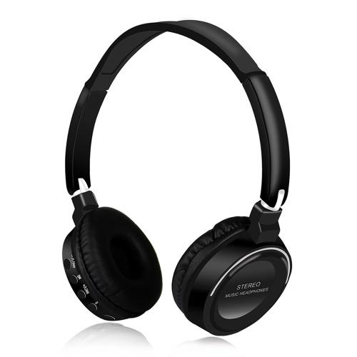 BT16 Fones De Ouvido Sem Fio BT Música Estéreo Fone De Ouvido 3.5mm Porta Fone de Ouvido TF Dobrável Ajustável Fones De Ouvido Com Microfone Mp3 Trabalho de Trabalho PC Smartphone Computador fones de ouvido