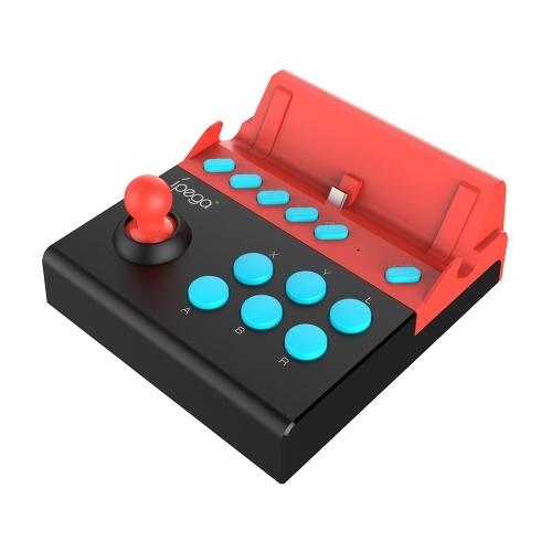 ipega PG-9136 Gladiator-Switch Edition Arcade-Joystick N-Switch-Konsole Gamepad Plug-and-Play-Unterstützung TURBO-Funktion Unbegrenzte Akkulaufzeit ohne Akku und Aufladen Schwarz