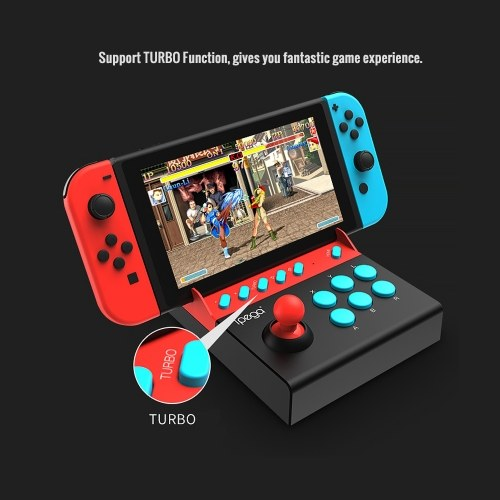 ipega PG-9136 Gladiator -Switch Edition Arcade Joystick N-Switch Console Gamepad Plug and Play Support TURBO Function Unlimited Battery Life without Battery and Charging Black