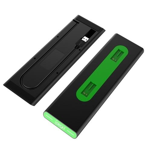 iPega PG-XB003 Ladestation mit zwei Controllern und LED-Anzeige Kurzschluss-Überladeschutz Kompatibel mit Xbox One / One S / One X.