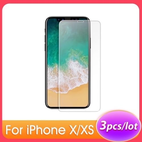 Pour iPhone X XS 5.8 Pouce Protection De Téléphone En Verre Trempé Film De Protection Écran Anti-rayures Anti-salissures
