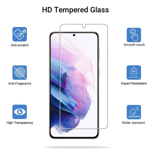 6.8-inch Tempered Glass Screen Protector Anti-Scratch Clear Film with High Transparency Bubble Free/Anti-Water/Oil-Waterproof/Explosion-Proof Protective Film Replacement for Samsung Galaxy S21 Ultra