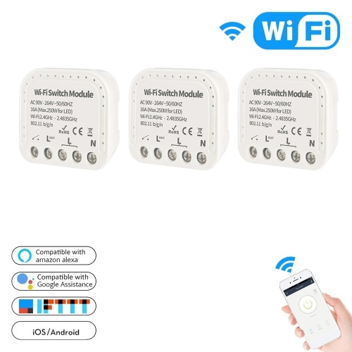 Wi-Fi Switch Module 2 Way TY-WiFi-501 Wireless Remote Voice Control DIY Smart Home Automation Hub Controller