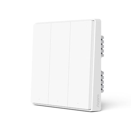 Aqara Wall Switch D1 ZigBee Smart Light Control remoto inalámbrico Zero Line con neutral 3 interruptores de llave