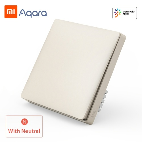 Xiaomi Aqara QBKG04LM Smart Wall Switch Smart Wi-Fi Control Lighting from Anywhere Home Smart Wall Touch APP Home Device Remote Control Voice Control Household No Hub Required ZigBee Version