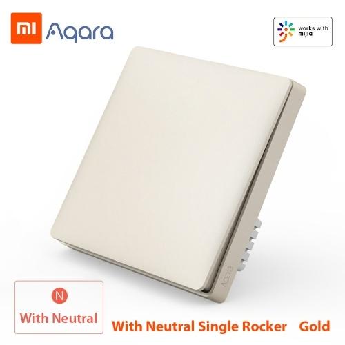 Xiaomi Aqara QBKG04LM Interruptor de pared inteligente Control de Wi-Fi inteligente Iluminación desde cualquier lugar Inicio Smart Wall Touch APP Dispositivo para el hogar Control remoto Control de voz Hogar No requiere Hub Versión ZigBee
