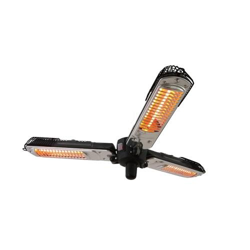 Parasol chauffant électrique Trois lampes - Infrarouge Halogène - 2000w