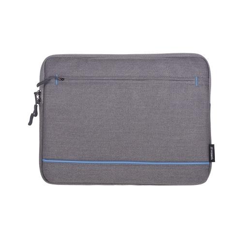 Prowell NB53283A Tablet Bag 13 pouces Tablet Case Cover Zipper Soft Business Sac à main De Mode Portable Tablet Pouch avec poche frontale Porte-documents pour iPad Samsung Xiaomi