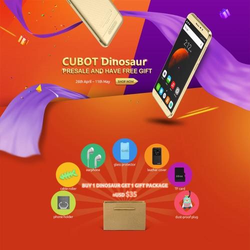 Ligue CUBOT Dinosaur Original Telefone Acessórios Pacote 7 em 1 Telefone Rolo cabo capa de couro Titular fone de tela de vidro protetor de 32GB TF Dusst-prova para Dinosaur CUBOT