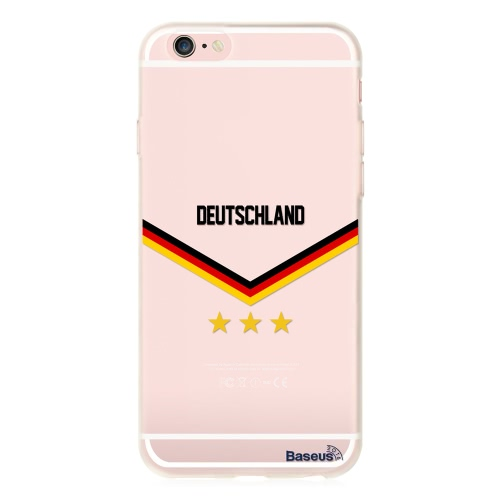 Baseus TPU Phone Case Sport Europe UK / France / Spain / Germany / Italy Soccer Football Fans Protective Cover Shell for 4.7 Inches iPhone 6 6S Eco-friendly Material Stylish Portable Ultrathin Anti-scratch Anti-dust Durable